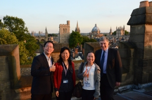 With the Principal, Revd Dr. Ralph Waller and Fellows from Thailand on the roof top of the chapel of Harris Manchester College